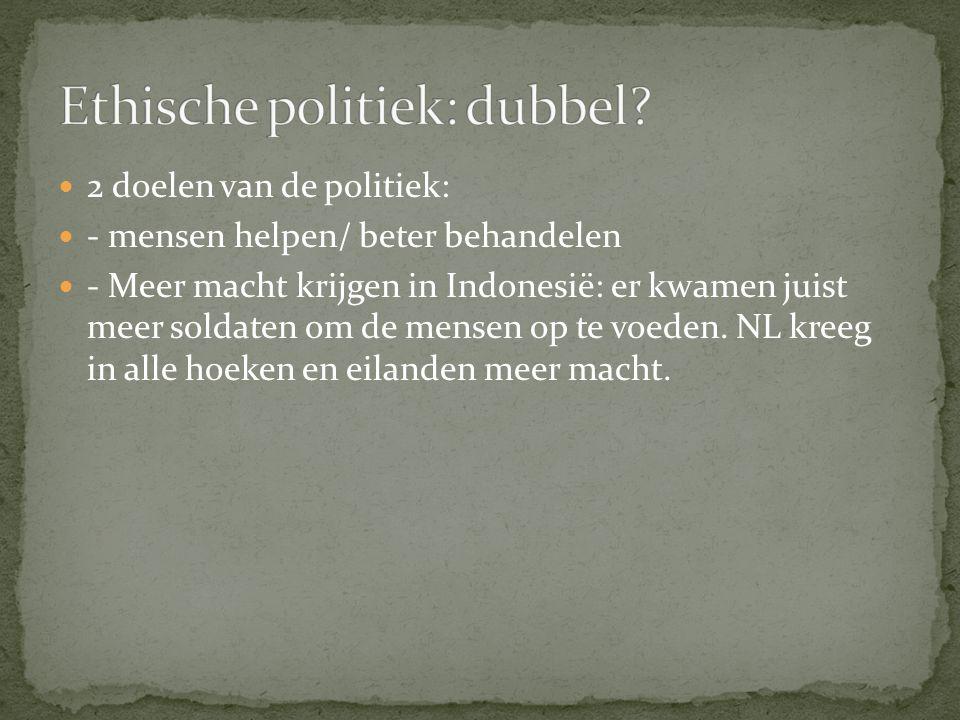 Ethische politiek: dubbel