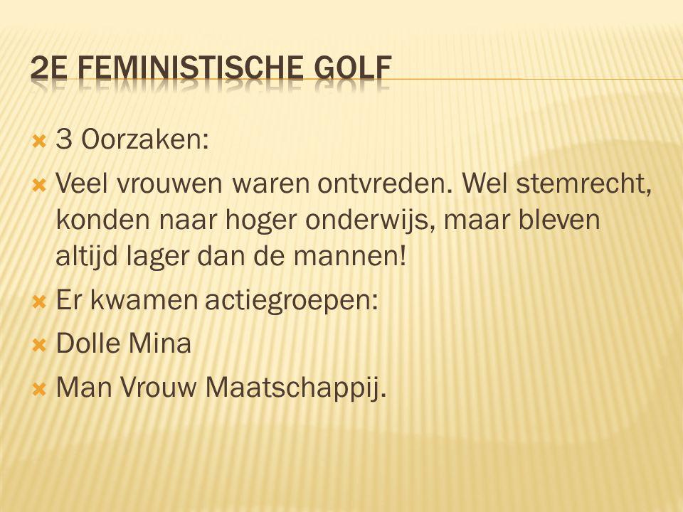 2e feministische golf 3 Oorzaken: