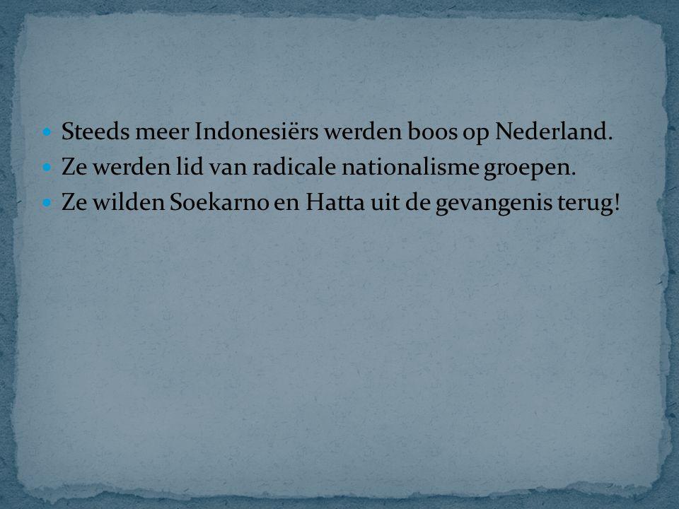 Steeds meer Indonesiërs werden boos op Nederland.