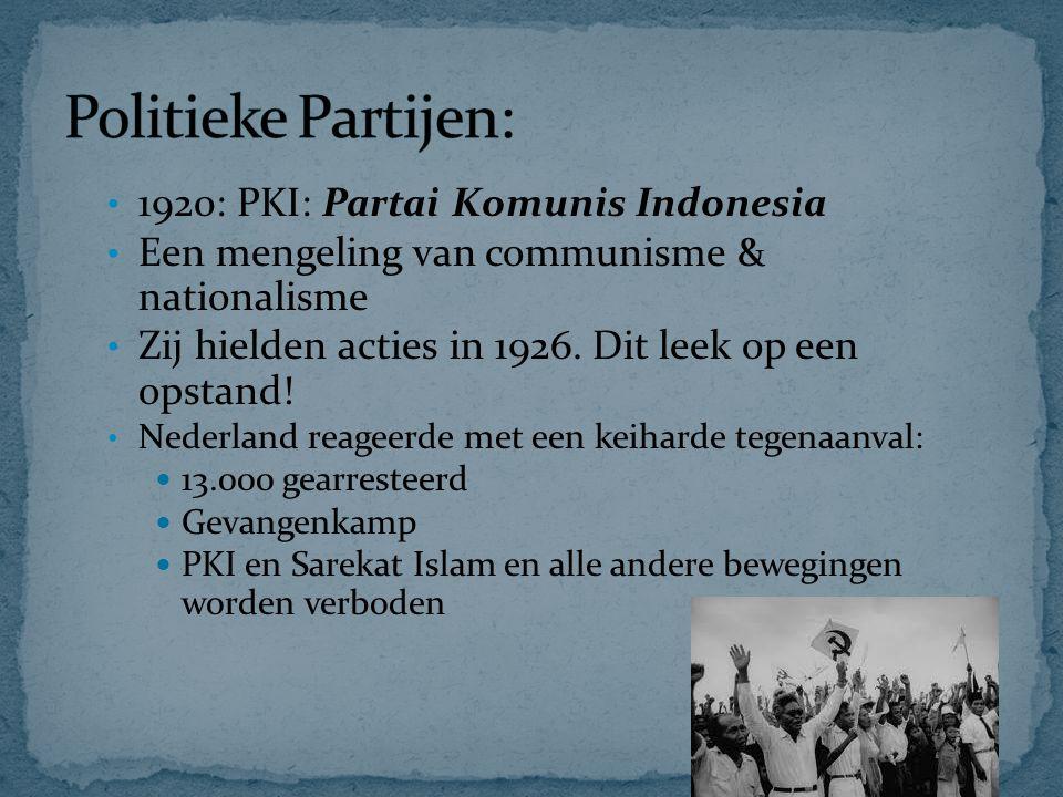 Politieke Partijen: 1920: PKI: Partai Komunis Indonesia