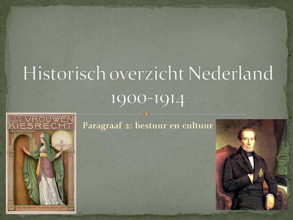 Historisch overzicht Nederland 1900-1914