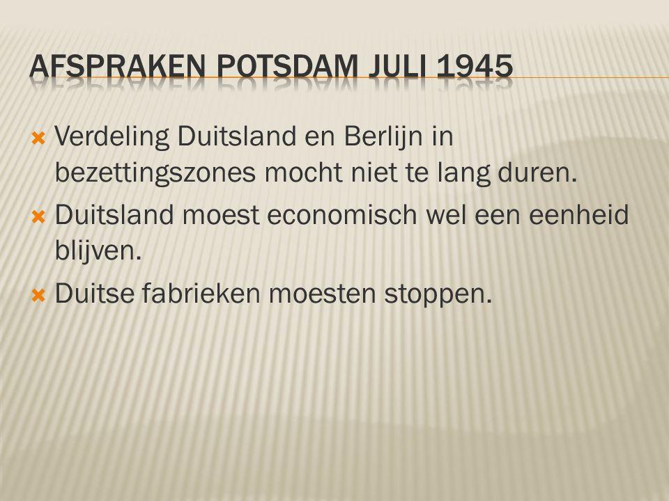 Afspraken Potsdam juli 1945