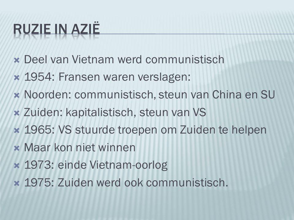 Ruzie in Azië Deel van Vietnam werd communistisch