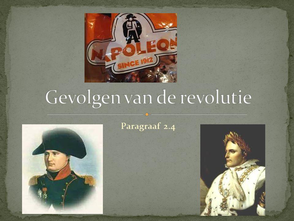 Gevolgen van de revolutie