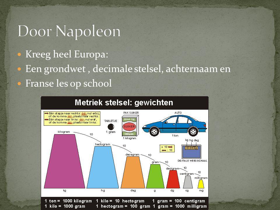 Door Napoleon Kreeg heel Europa: