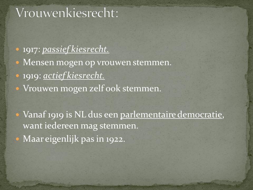 Vrouwenkiesrecht: 1917: passief kiesrecht.