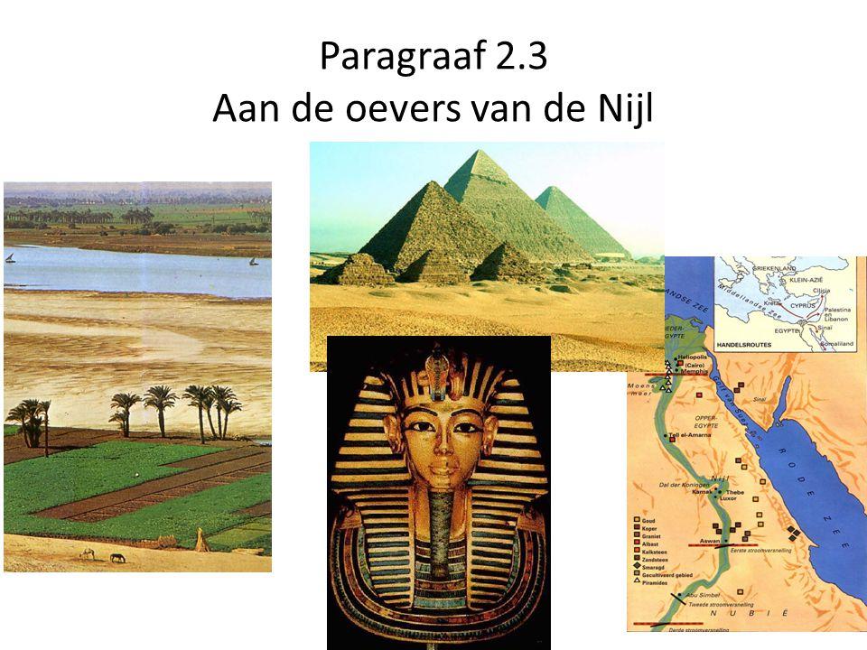 Paragraaf 2.3 Aan de oevers van de Nijl