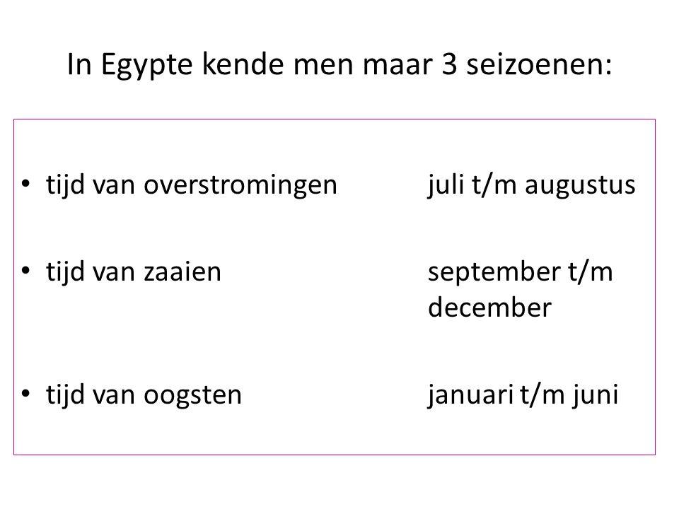 In Egypte kende men maar 3 seizoenen: