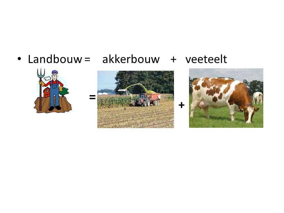 Landbouw = akkerbouw + veeteelt