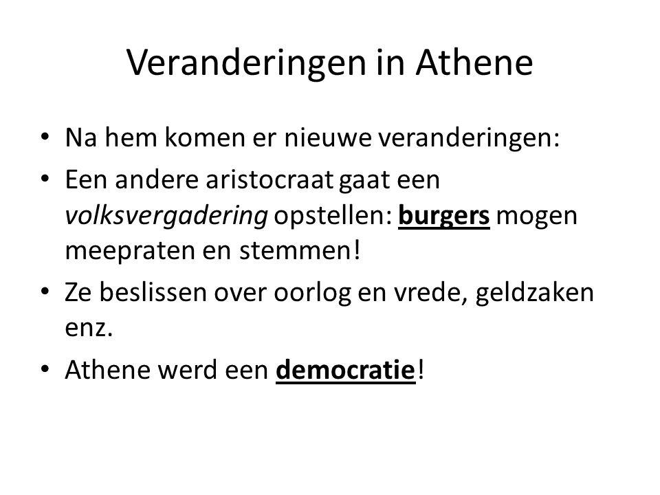 Veranderingen in Athene