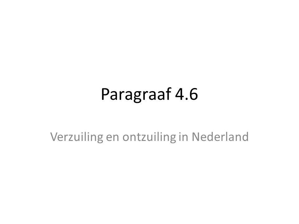 Verzuiling en ontzuiling in Nederland