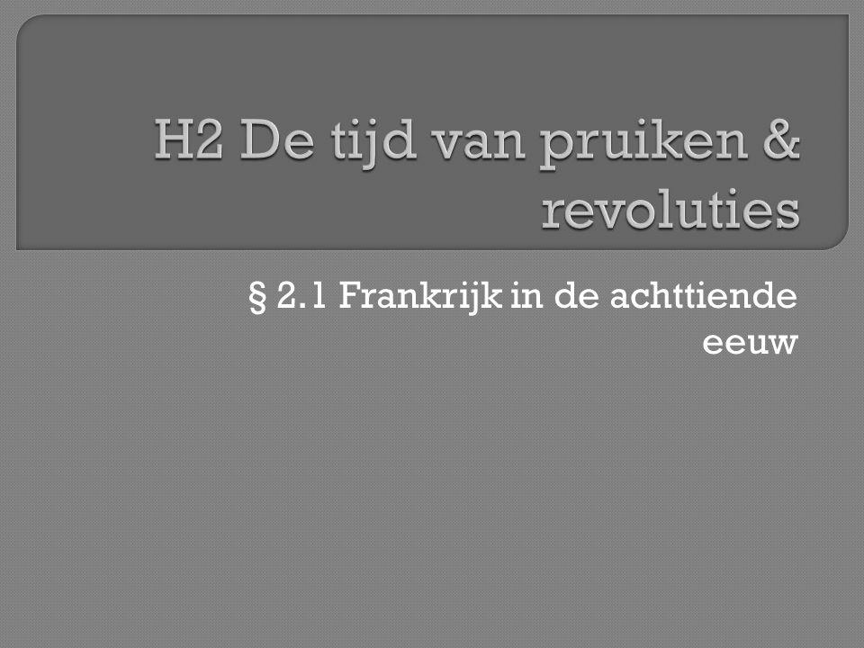 H2 De tijd van pruiken & revoluties