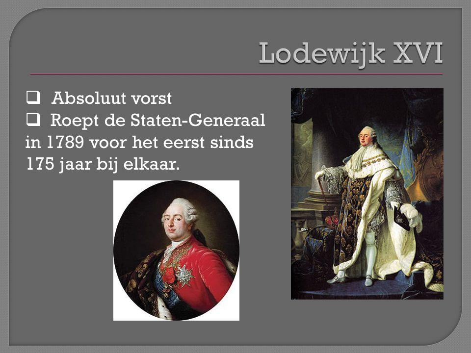 Lodewijk XVI Absoluut vorst