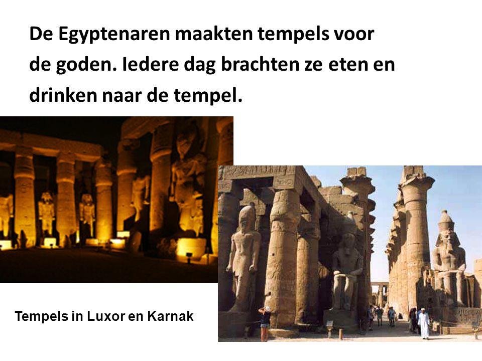 De Egyptenaren maakten tempels voor