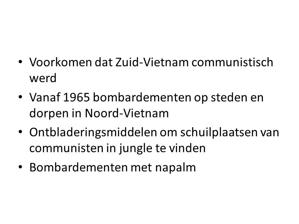 Voorkomen dat Zuid-Vietnam communistisch werd