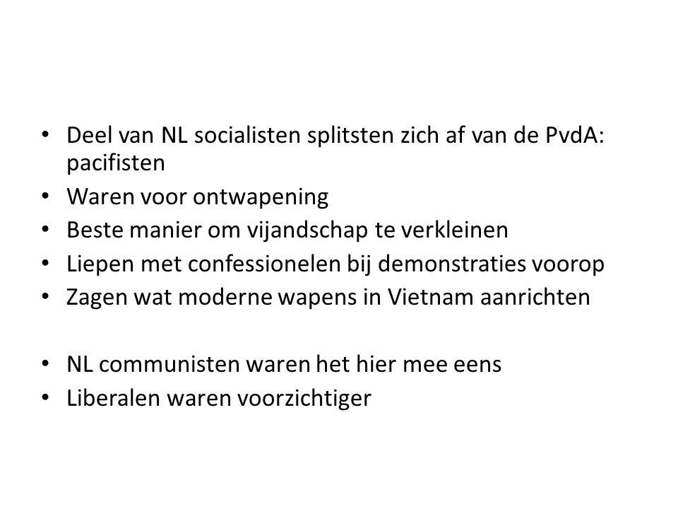 Deel van NL socialisten splitsten zich af van de PvdA: pacifisten