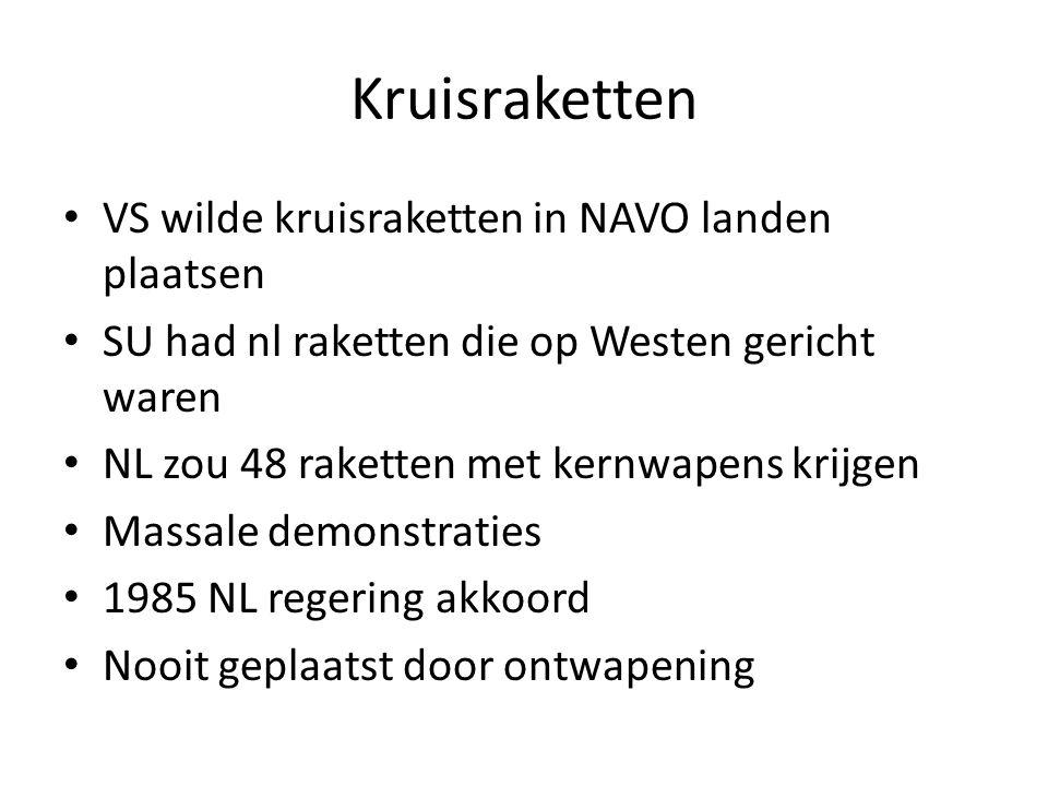 Kruisraketten VS wilde kruisraketten in NAVO landen plaatsen