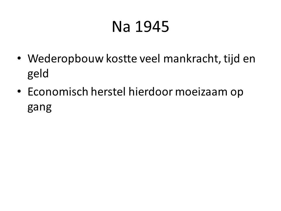 Na 1945 Wederopbouw kostte veel mankracht, tijd en geld