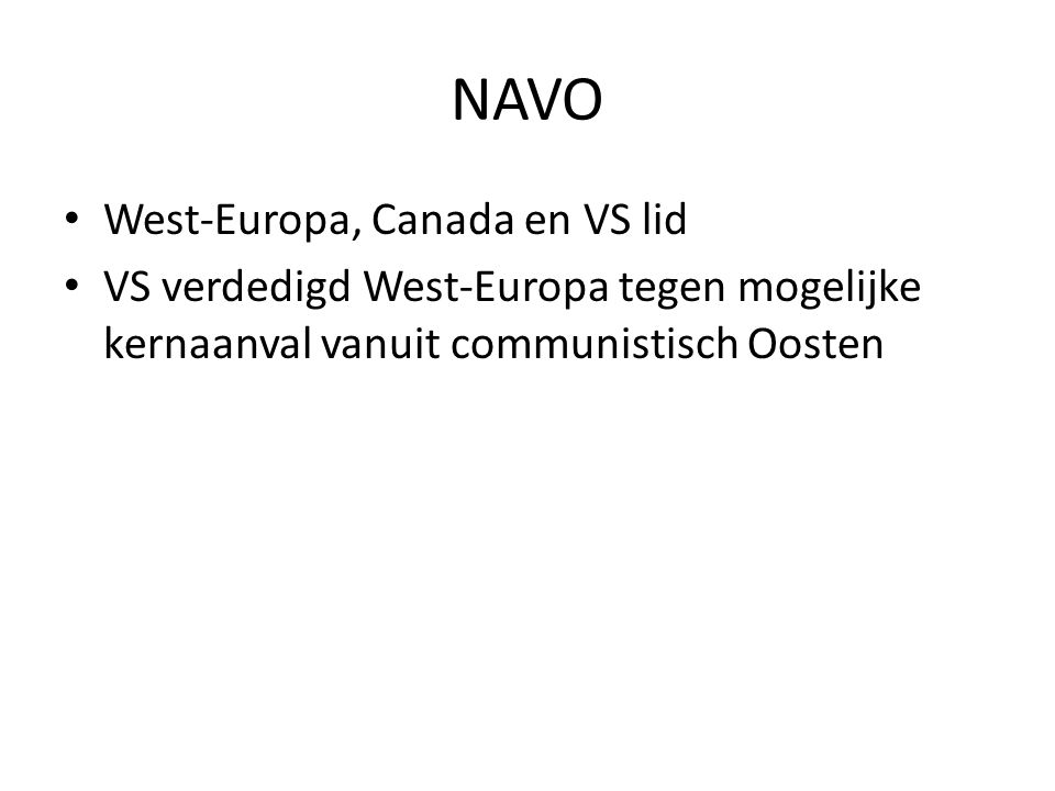NAVO West-Europa, Canada en VS lid