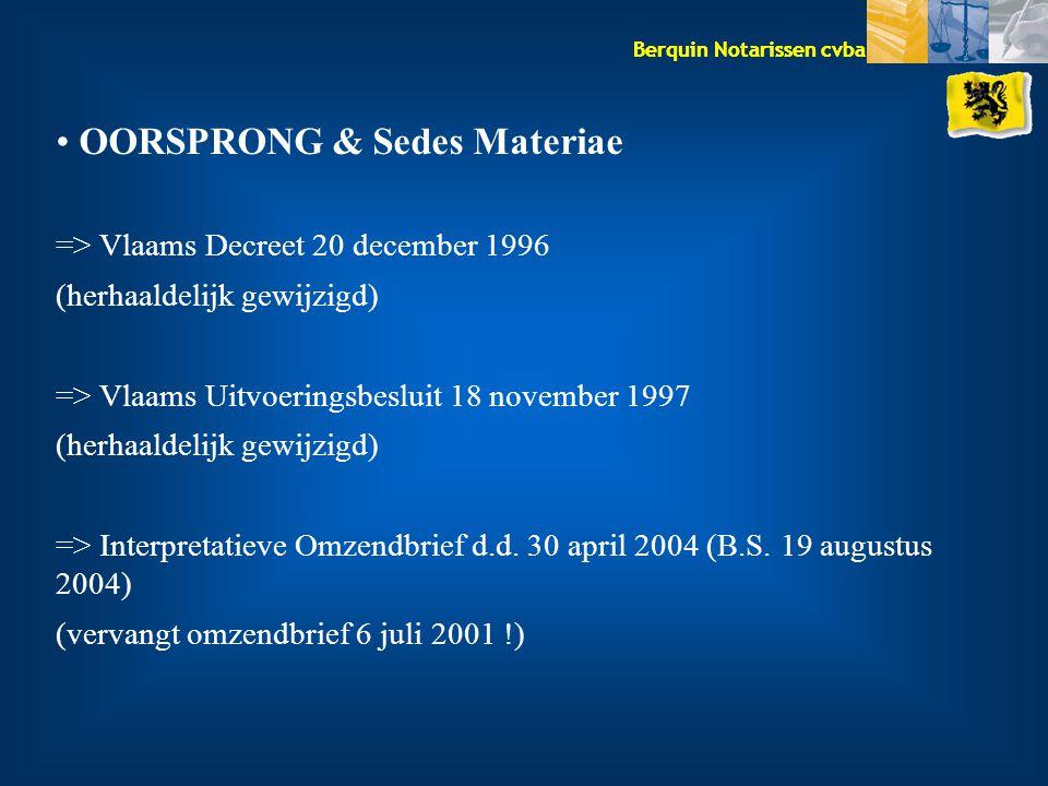 OORSPRONG & Sedes Materiae