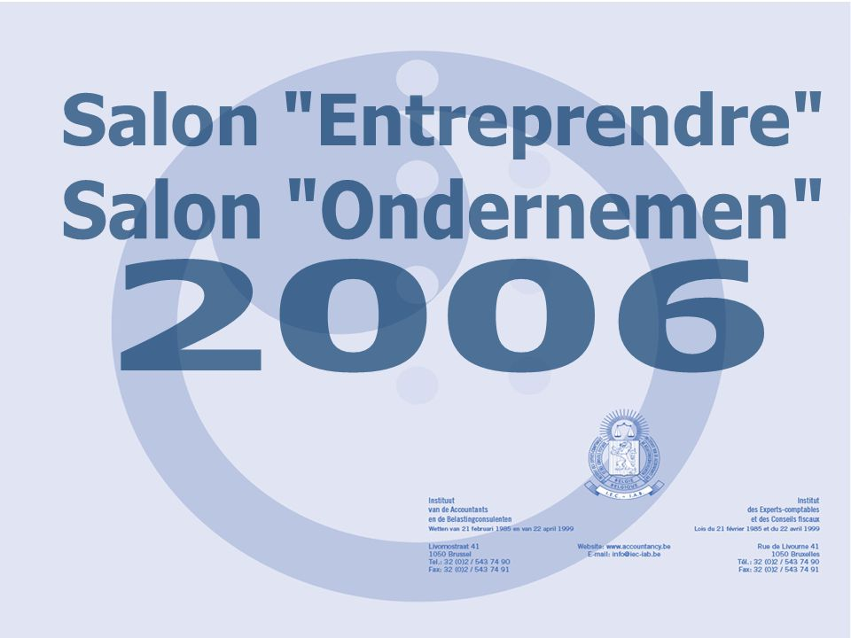 Salon Entreprendre Salon Ondernemen 2006