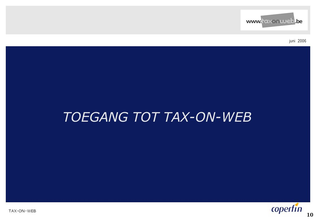 TOEGANG TOT TAX-ON-WEB