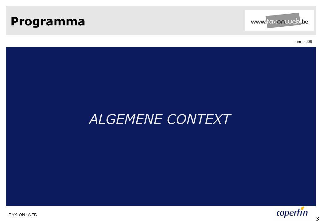 Programma ALGEMENE CONTEXT