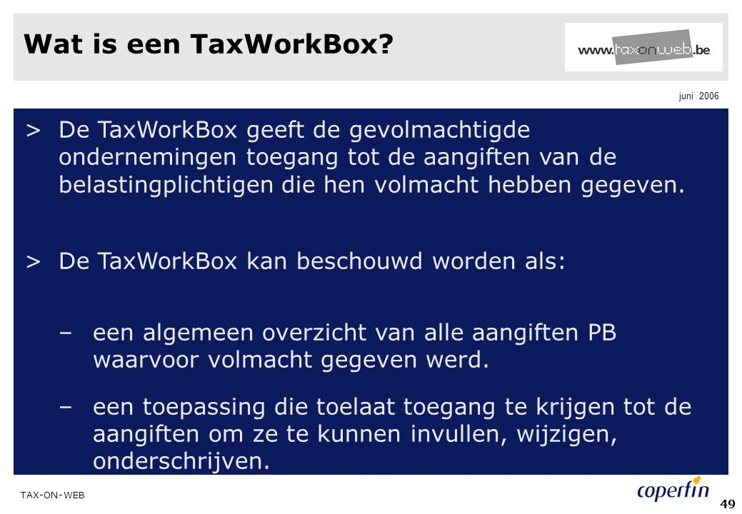 Wat is een TaxWorkBox