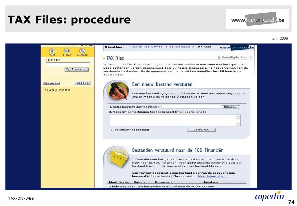 TAX Files: procedure