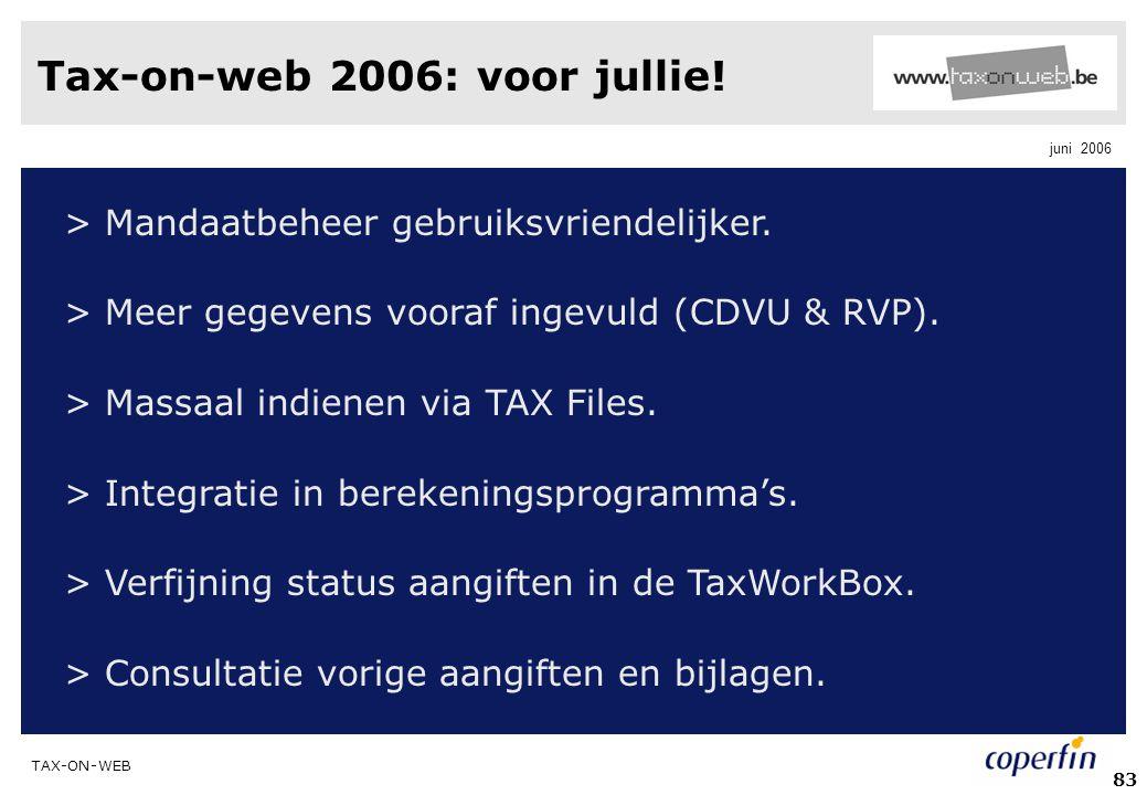 Tax-on-web 2006: voor jullie!