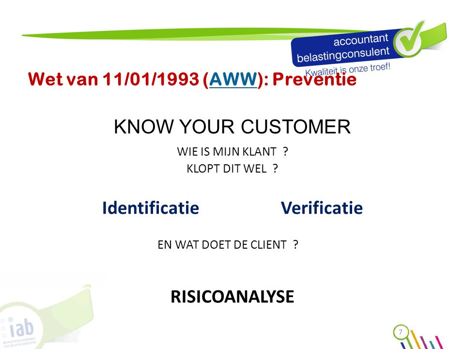 Wet van 11/01/1993 (AWW): Preventie