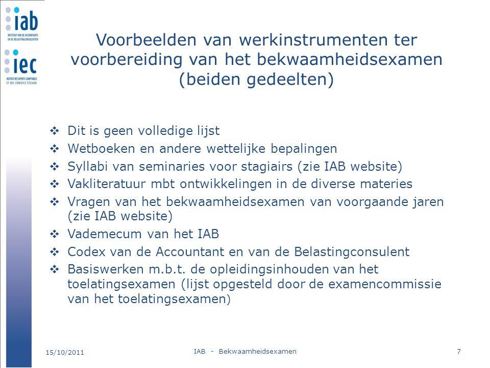 IAB - Bekwaamheidsexamen