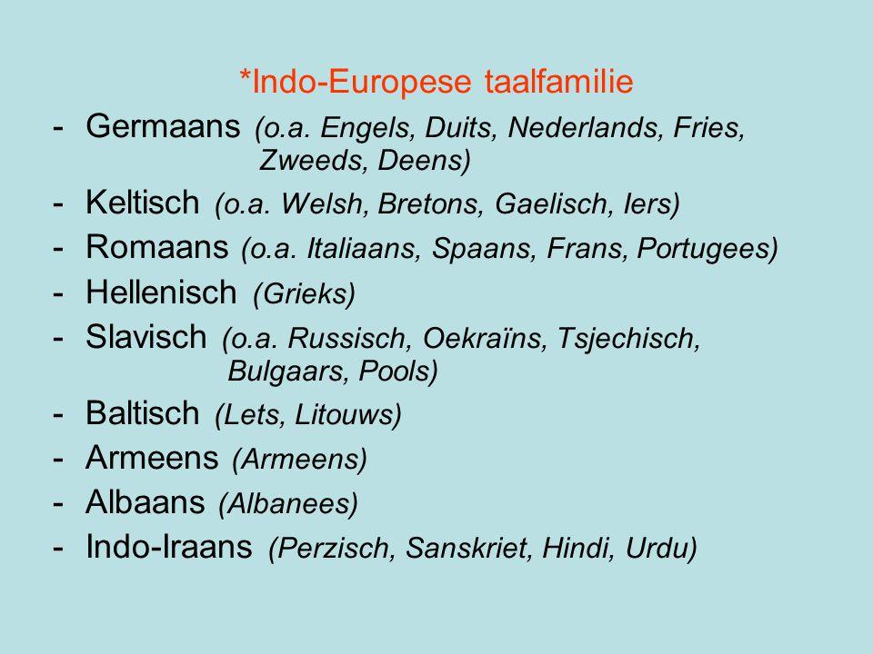 *Indo-Europese taalfamilie