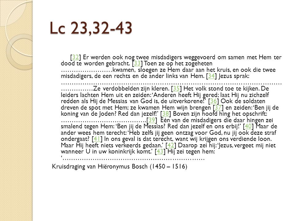 Lc 23,32-43