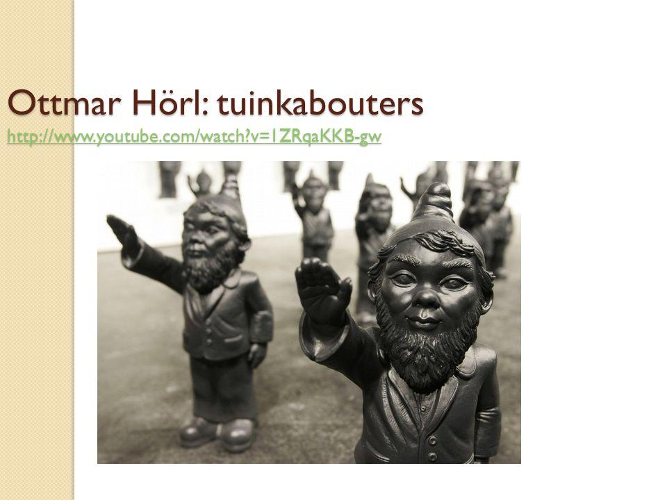 Ottmar Hörl: tuinkabouters http://www.youtube.com/watch v=1ZRqaKKB-gw