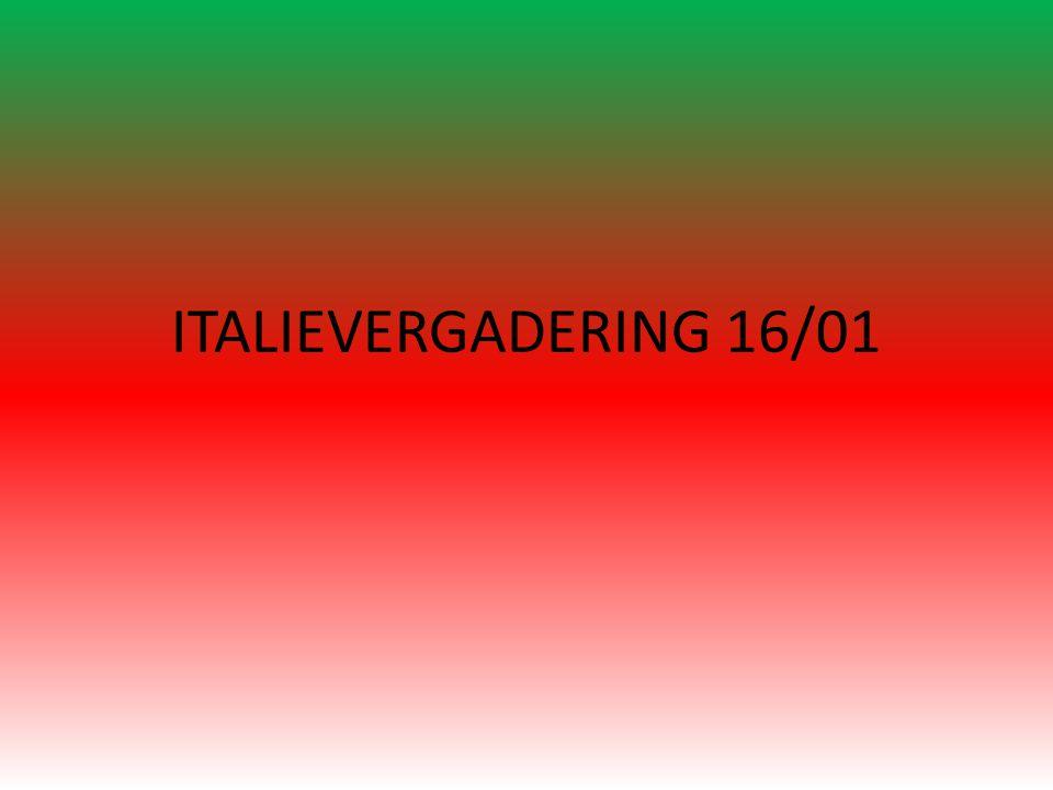 ITALIEVERGADERING 16/01