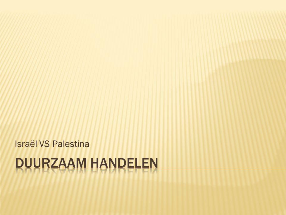 Israël VS Palestina Duurzaam handelen