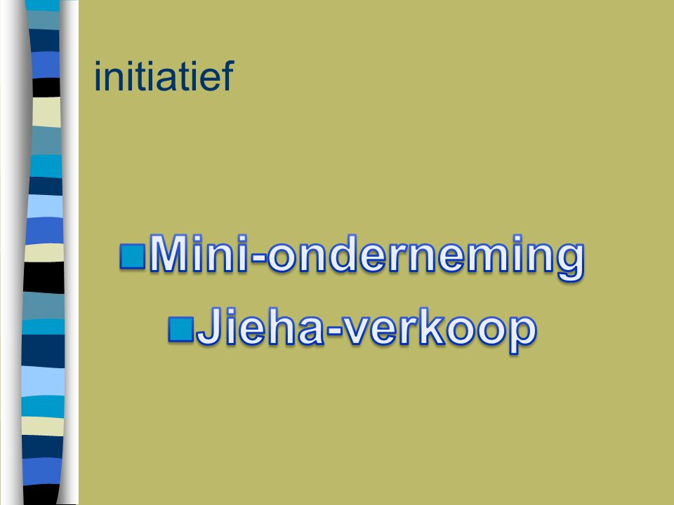 Mini-onderneming Jieha-verkoop