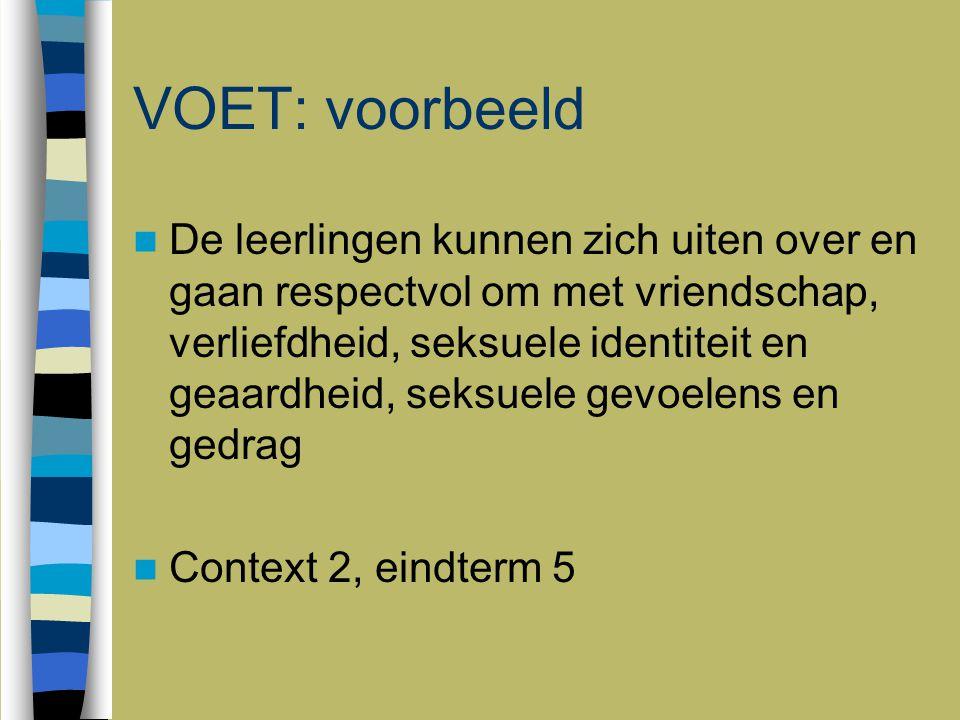 5 juni 2009 VOET: voorbeeld.