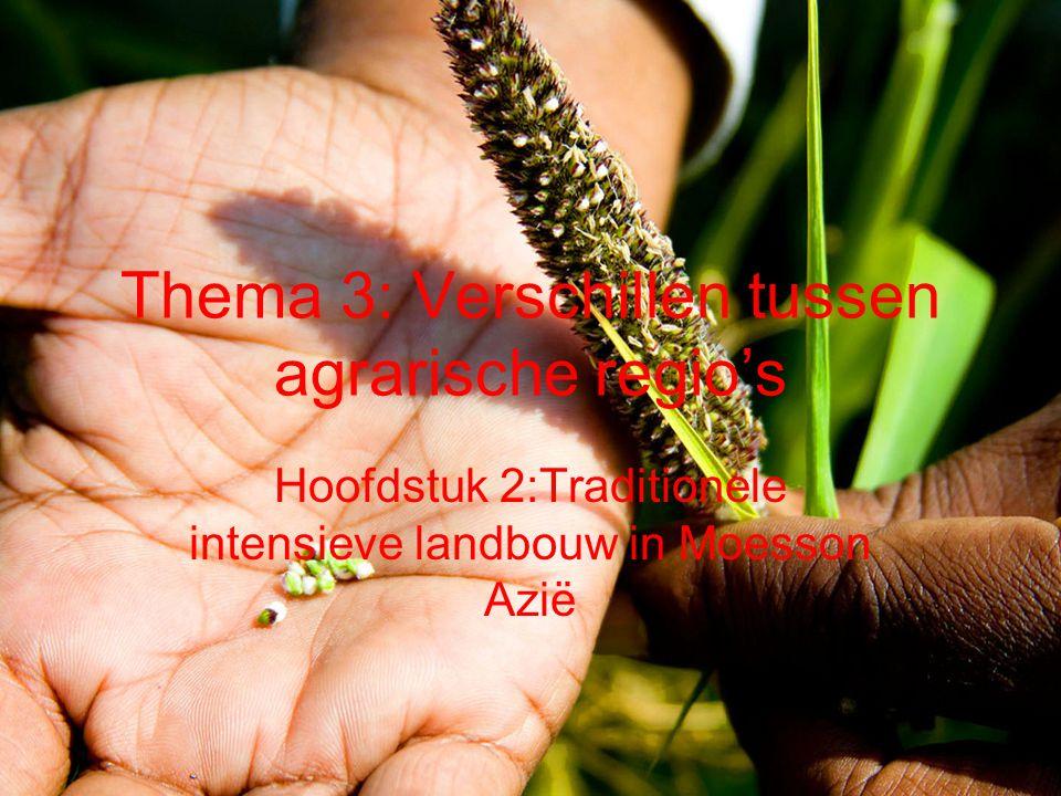 Thema 3: Verschillen tussen agrarische regio's