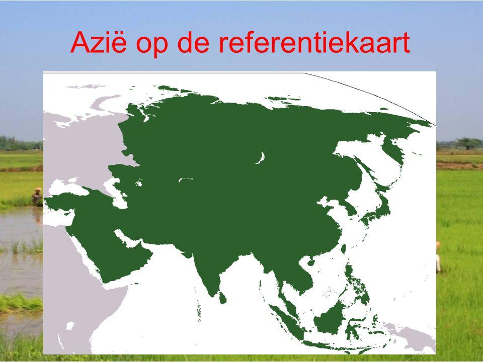 Azië op de referentiekaart