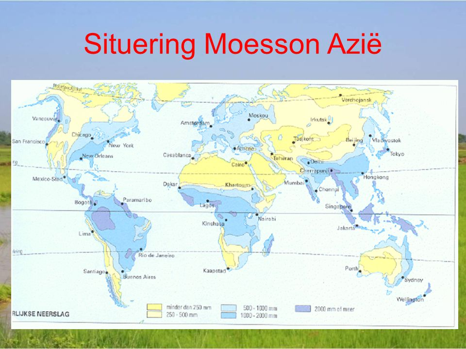 Situering Moesson Azië