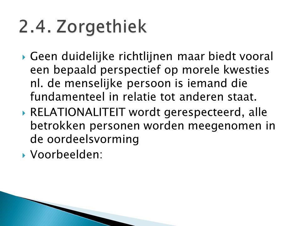 2.4. Zorgethiek