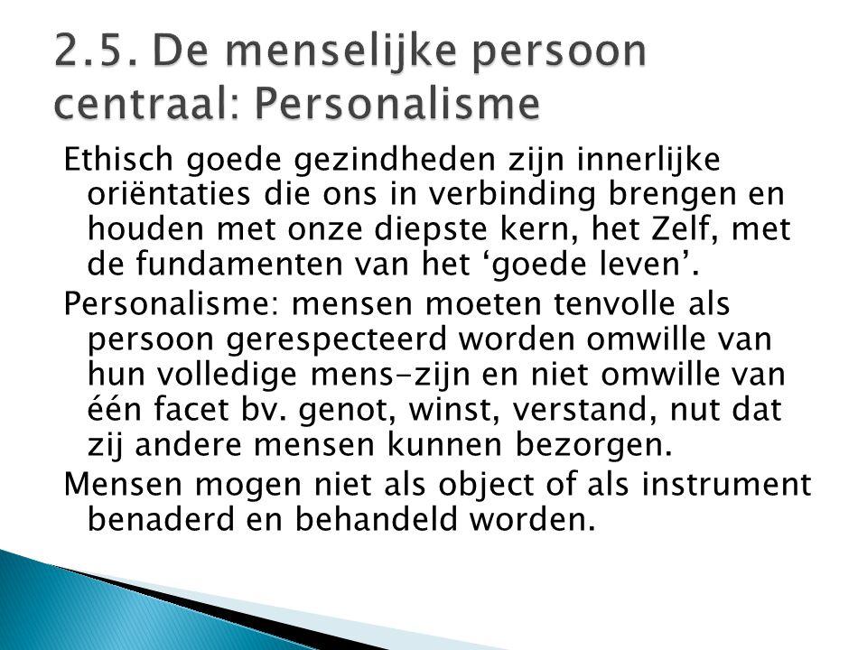 2.5. De menselijke persoon centraal: Personalisme