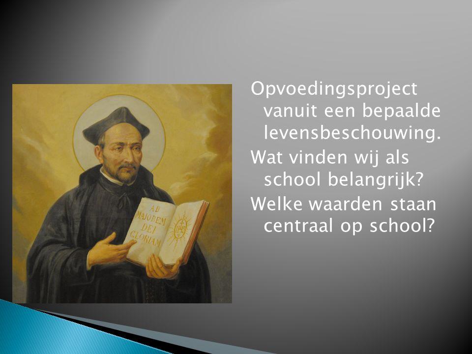Opvoedingsproject vanuit een bepaalde levensbeschouwing