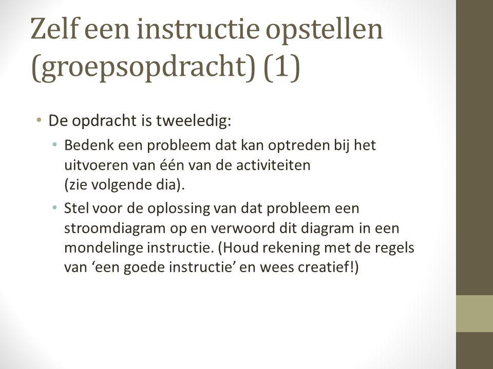 Zelf een instructie opstellen (groepsopdracht) (1)