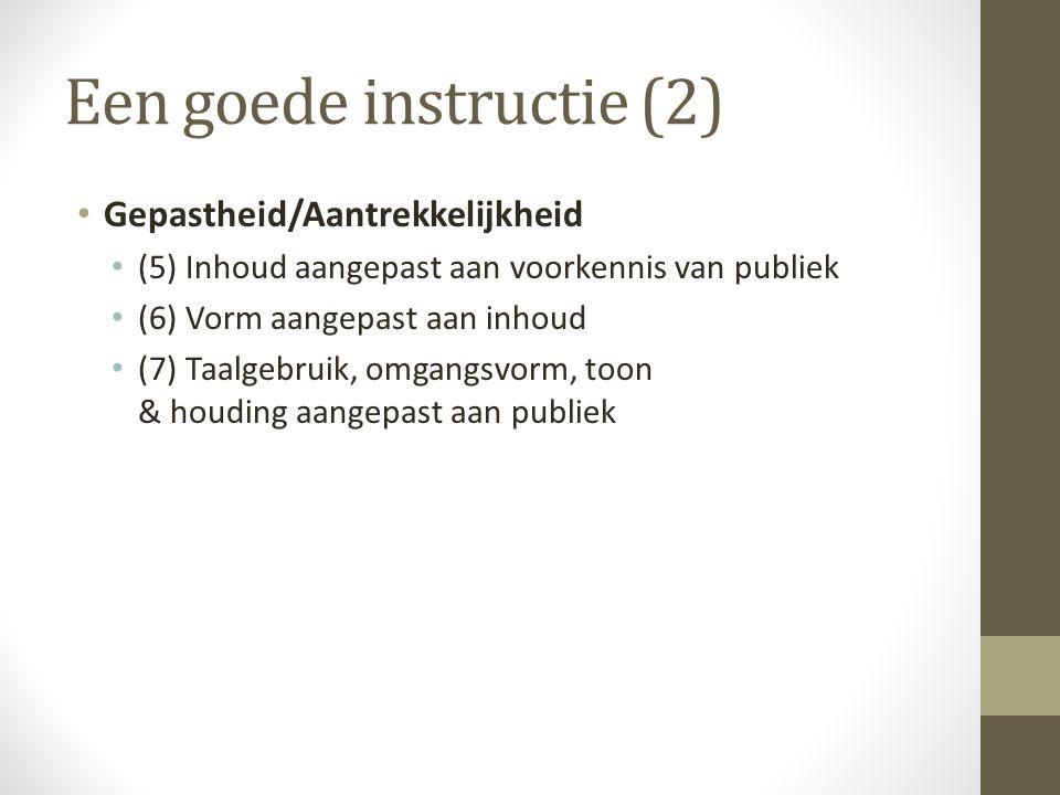 Een goede instructie (2)