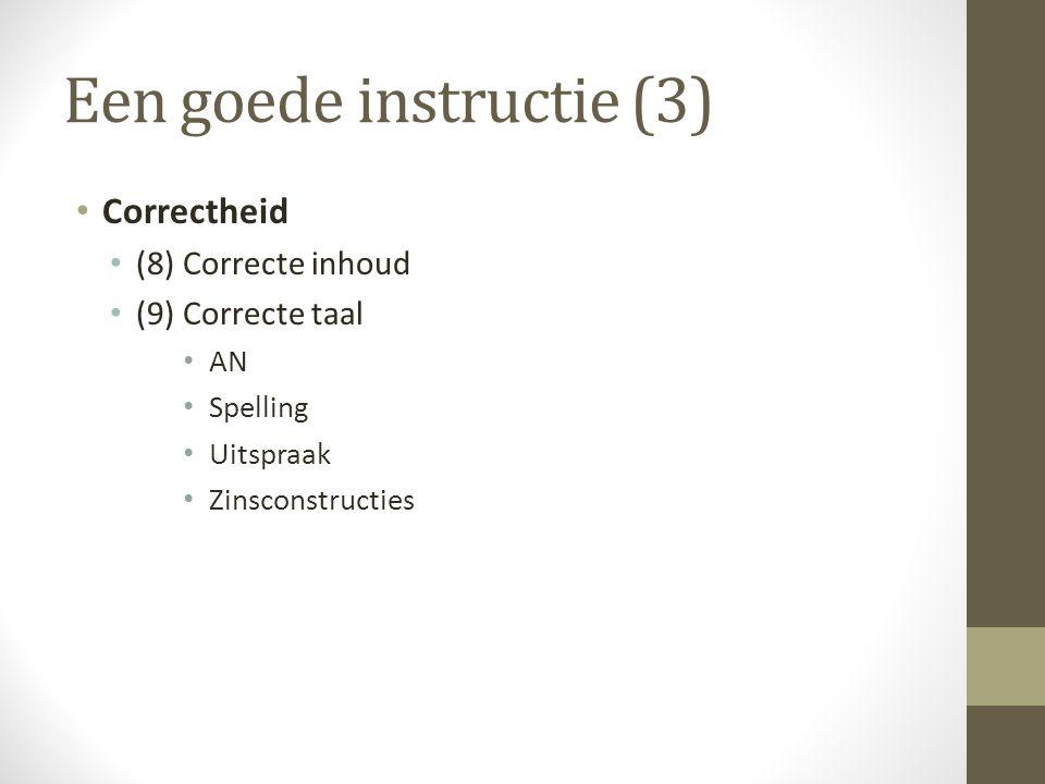 Een goede instructie (3)