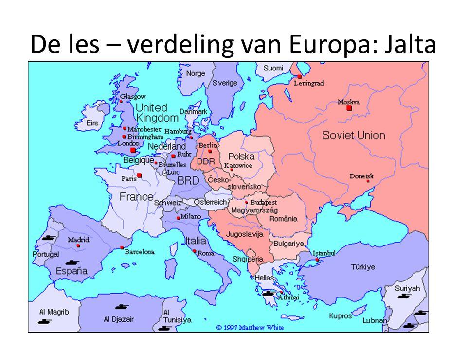 De les – verdeling van Europa: Jalta