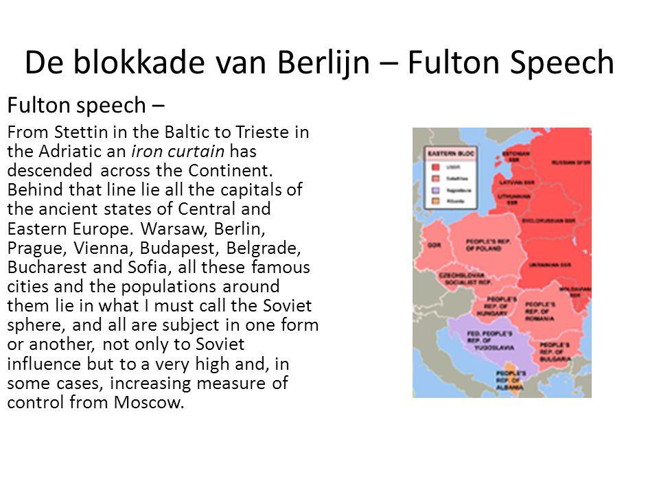 De blokkade van Berlijn – Fulton Speech